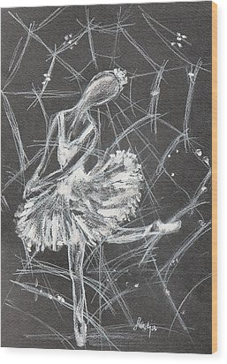 Caught In A Web  Wood Print by Sladjana Lazarevic