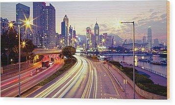 Causeway Bay Wood Print by Andi Andreas