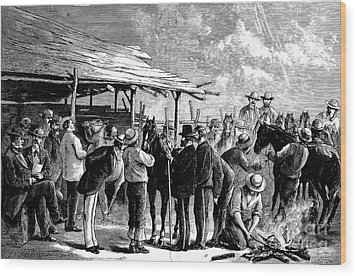 Cavalry Horses, 1876 Wood Print by Granger