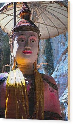 Cave Buddha Wood Print by Adrian Evans