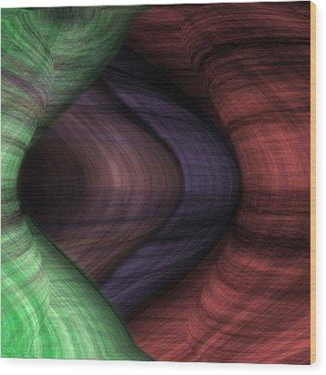 Caverns Of Wonder Wood Print by Christopher Gaston