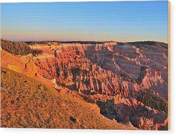 Cedar Breaks Sunset Wood Print by Mark Bowmer
