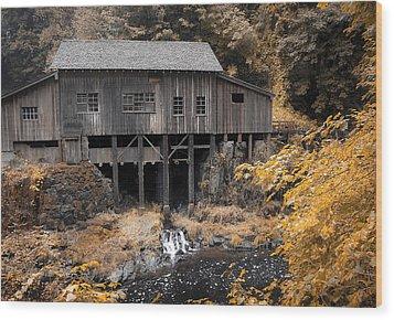 Cedar Creek Grist Mill Wood Print by Steve McKinzie