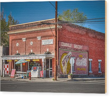 Cedarville California Grocery Store Wood Print by Scott McGuire