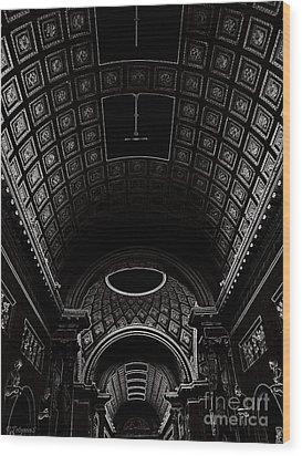 Wood Print featuring the photograph Ceiling. Vatican by Tanya  Searcy