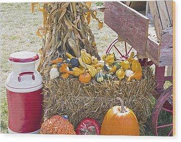 Celebrating Fall Wood Print by Wayne Stabnaw