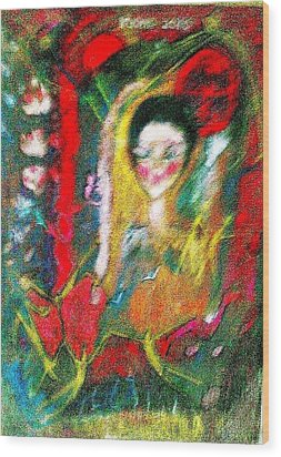 Celebration Of Life.. Be..3 Wood Print by Rooma Mehra