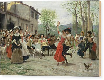 Celebration Wood Print by William Henry Hunt