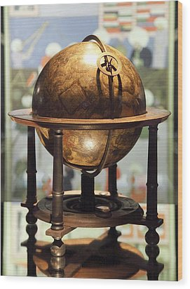 Celestial Globe, 17th Century Wood Print by Detlev Van Ravenswaay