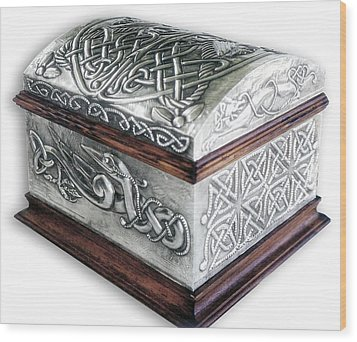 Celtic Chest 1 Wood Print by Rodrigo Santos