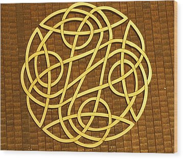 Celtic Knot Wood Print by Keith Cichlar
