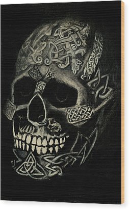 Celtic Skull Wood Print