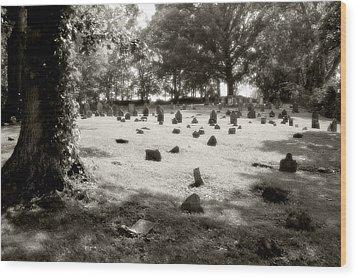 Cemetery At Mud Meeting House Wood Print by Mark Jordan