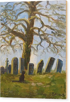 Cemetery Road Wood Print by Nora Sallows