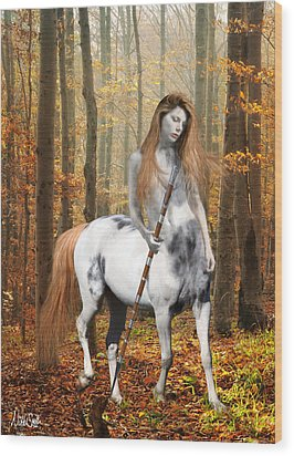 Centaur Series Autumn Walk Wood Print by Nikki Marie Smith