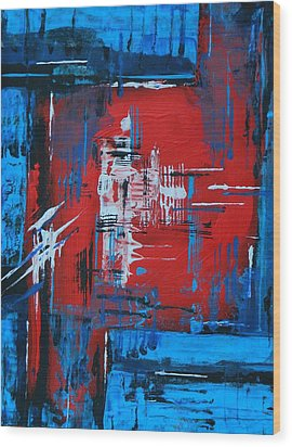 Wood Print featuring the painting Center Of Attention by Everette McMahan jr