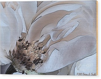 Centerfold Wood Print by Susan Smith