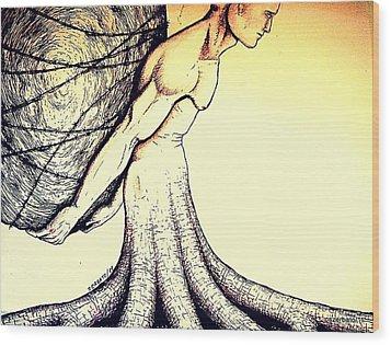 Central Beliefs Of Helplessness Wood Print by Paulo Zerbato