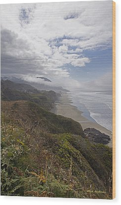 Wood Print featuring the photograph Central Oregon Coast Vista by Mick Anderson