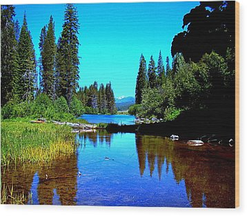 Central Oregon Tranquility  Wood Print by Nick Kloepping