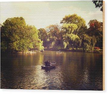 Central Park Romance - New York City Wood Print by Vivienne Gucwa