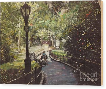 Central Park Upper East Side Wood Print by Barry Rothstein
