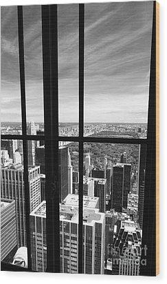 Central Park Window Wood Print by Holger Ostwald