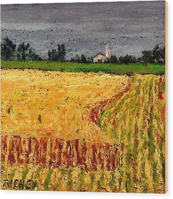 Central Pennsylvania Summer Wheat Wood Print by Bob Richey