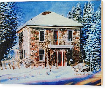 Century Farmhouse Home Wood Print by Hanne Lore Koehler