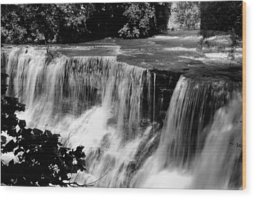 Wood Print featuring the photograph Chagrin Falls by Michelle Joseph-Long