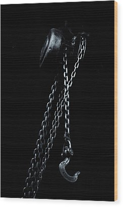 Wood Print featuring the photograph Chain And Hook by Tom Singleton