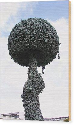 Chain Reaction  Wood Print by Viktor Savchenko