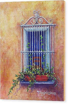 Chair In The Window Wood Print by Tanja Ware