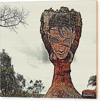 Chalice Symbolically Eroded By The Wind Of The Thoughtlessnes Wood Print by Paulo Zerbato