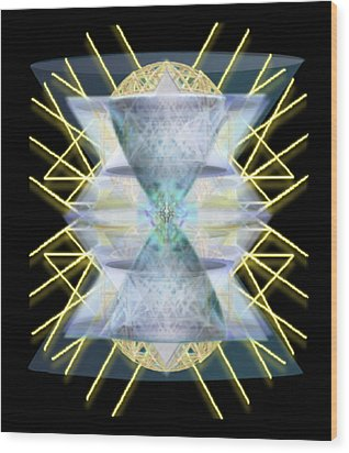Wood Print featuring the digital art Chalices From Pi Sphere Goldenray IIi by Christopher Pringer