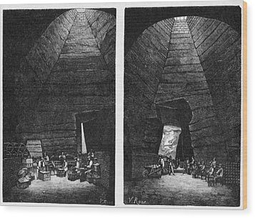 Champagne Production, 19th Century Wood Print by Cci Archives