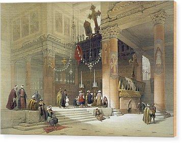chancel of the church of St. Helena Wood Print by Munir Alawi