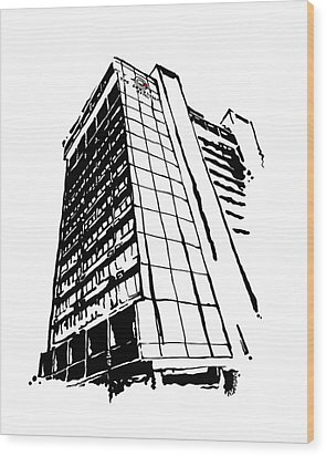 Chancellor Hotel In Fayetteville Ar Wood Print by Amanda  Sanford