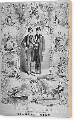 Chang And Eng Bunker, The Original Wood Print by Science Source
