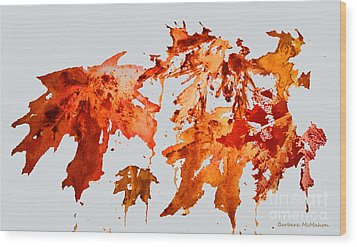 Changing Season Wood Print by Barbara McMahon