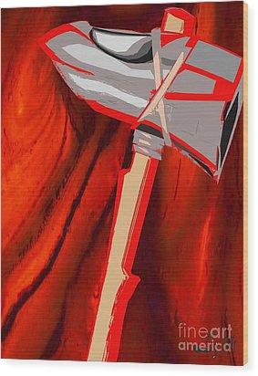 Chango's Axe Liquid Wood Print by Liz Loz