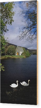 Chapel At Gougane Barra, Co Cork Wood Print by The Irish Image Collection