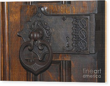 Chapel Door Wood Print by Cindy Manero