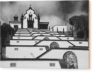 Chapel In Azores Wood Print by Gaspar Avila