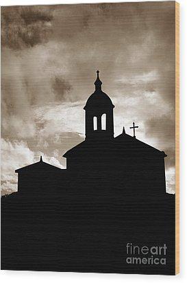 Chapel Silhouette Wood Print by Gaspar Avila