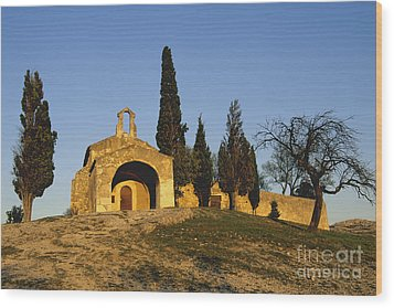 Chapelle D'eygalieres En Provence. Wood Print by Bernard Jaubert