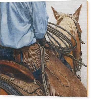 Chaps Wood Print by Pat Erickson
