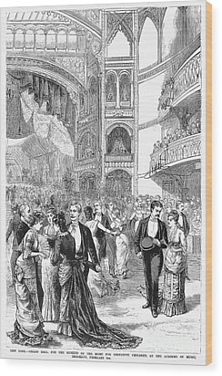 Charity Ball, 1880 Wood Print by Granger