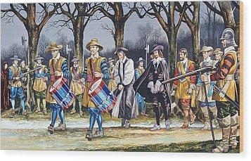 Charles I's Last Walk  Wood Print by Ron Embleton