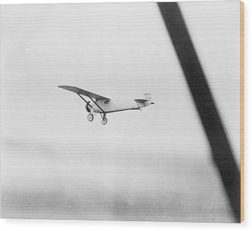 Charles Lindberghs Airplane, The Spirit Wood Print by Everett